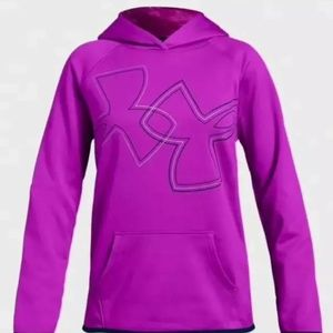 Under Armour Apparel Girls Fleece Dual Logo Hoodie
